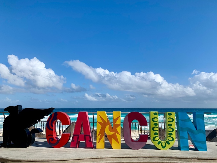 Cancún sign at the JW Marriott Cancún