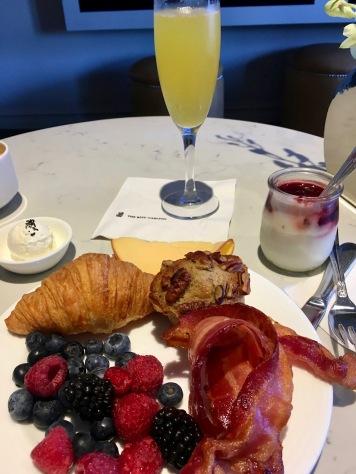 In-room breakfasts are delightful.