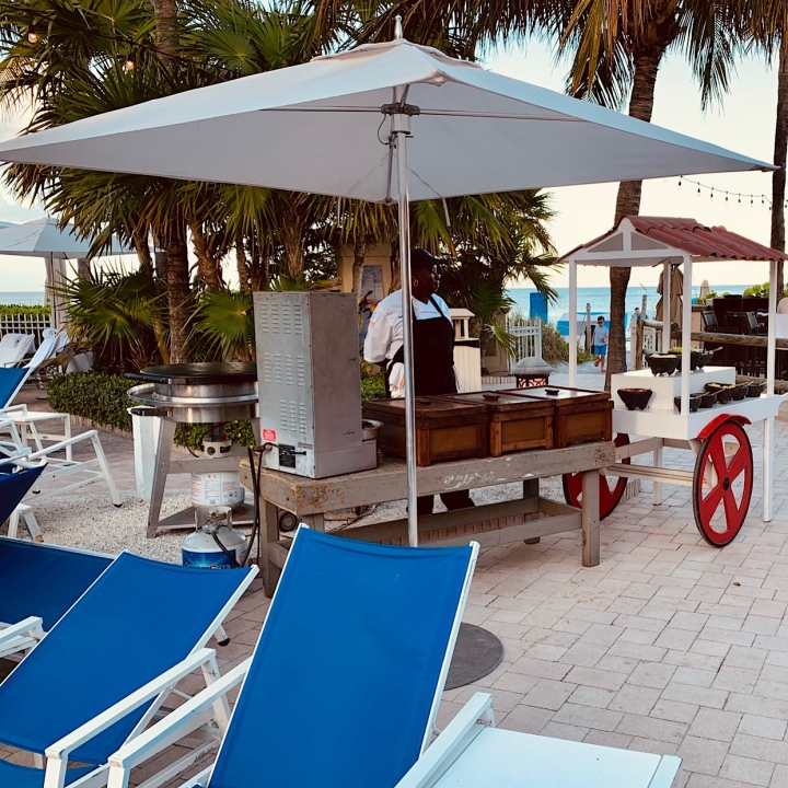 Taco stand by the pool at Ritz-Carlton Key Biscayne