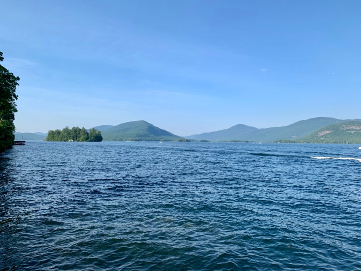 view of Lake George from the Sagamore Hotel
